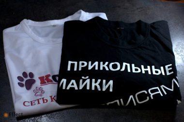 печать на футболках недорого киев
