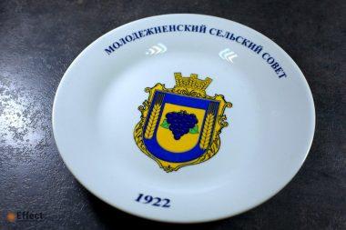 печать фото на тарелках киев