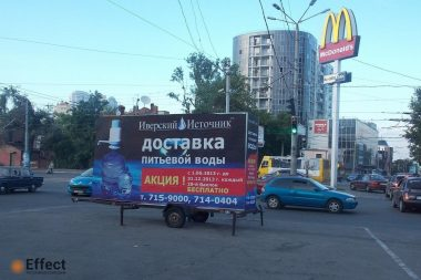 реклама на прицепах